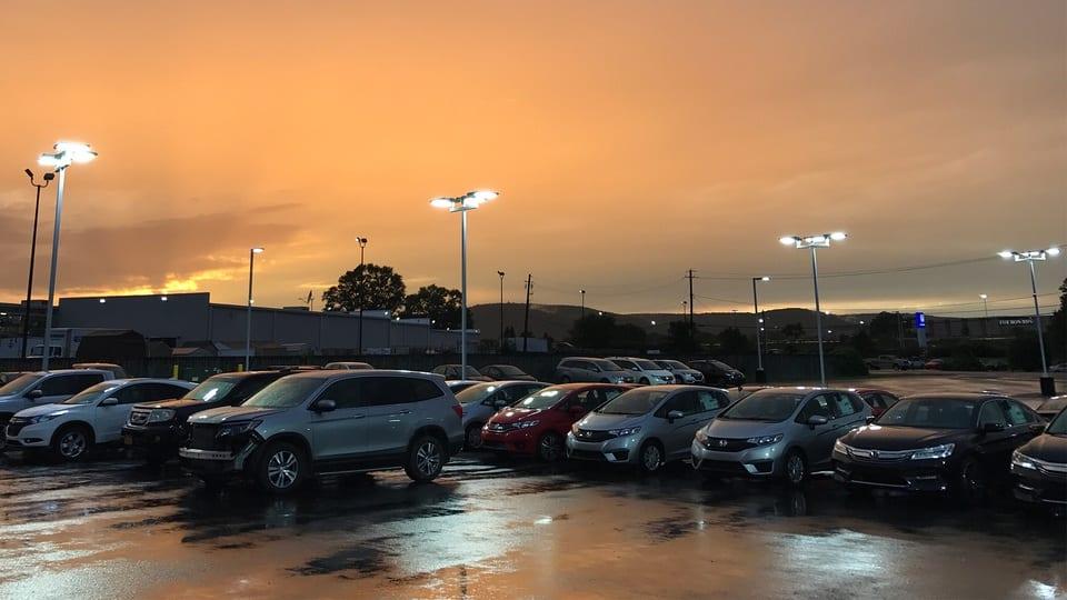 Parking Lot Lighting Fixtures - LED L - LED Sports Lighting, LED Warehouse Lighting, Office Lighting, Church Lighting | Victory Lights in Nashville, TN & Raleigh, NC